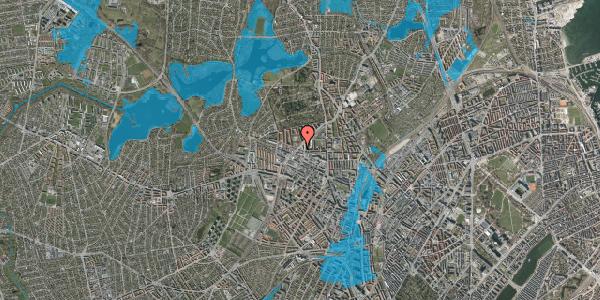 Oversvømmelsesrisiko fra vandløb på Birkedommervej 37, 1. tv, 2400 København NV