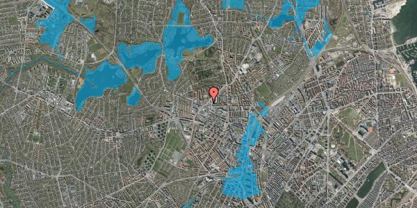 Oversvømmelsesrisiko fra vandløb på Birkedommervej 39, 2. tv, 2400 København NV