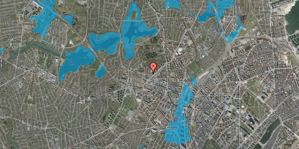 Oversvømmelsesrisiko fra vandløb på Birkedommervej 56, 3. tv, 2400 København NV