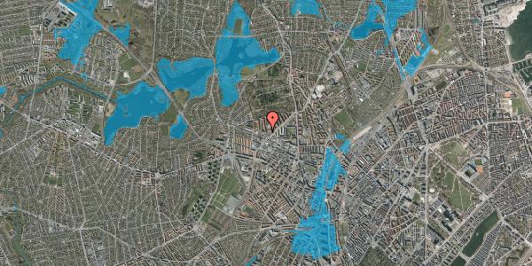 Oversvømmelsesrisiko fra vandløb på Birkedommervej 56, 4. th, 2400 København NV