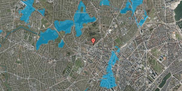 Oversvømmelsesrisiko fra vandløb på Birkedommervej 58, st. tv, 2400 København NV