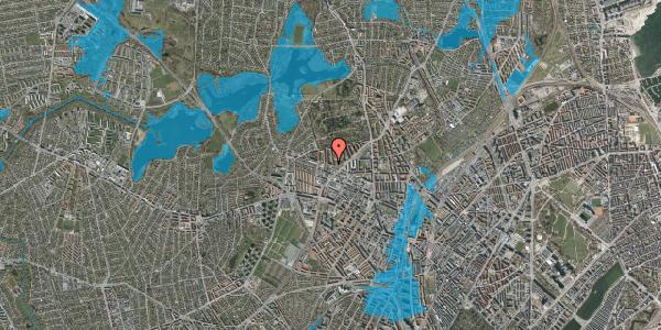 Oversvømmelsesrisiko fra vandløb på Birkedommervej 60, st. tv, 2400 København NV