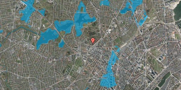 Oversvømmelsesrisiko fra vandløb på Birkedommervej 60, 1. tv, 2400 København NV