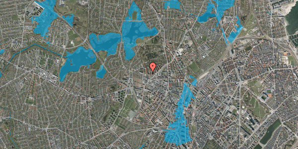 Oversvømmelsesrisiko fra vandløb på Birkedommervej 60, 3. , 2400 København NV