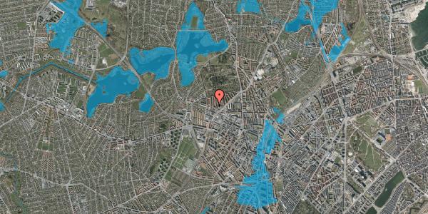 Oversvømmelsesrisiko fra vandløb på Birkedommervej 62, 1. tv, 2400 København NV