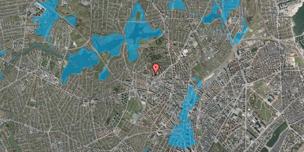 Oversvømmelsesrisiko fra vandløb på Birkedommervej 64, 1. th, 2400 København NV