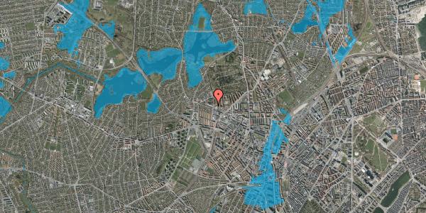 Oversvømmelsesrisiko fra vandløb på Birkedommervej 65, 1. th, 2400 København NV