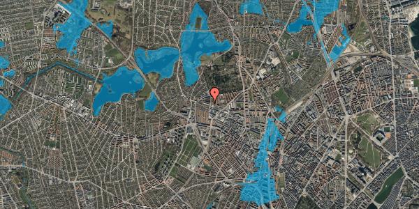 Oversvømmelsesrisiko fra vandløb på Birkedommervej 65, 2. tv, 2400 København NV