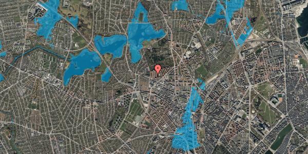 Oversvømmelsesrisiko fra vandløb på Birkedommervej 66, st. , 2400 København NV