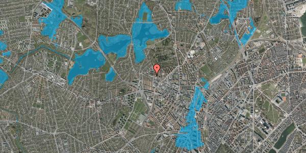 Oversvømmelsesrisiko fra vandløb på Birkedommervej 67, st. th, 2400 København NV
