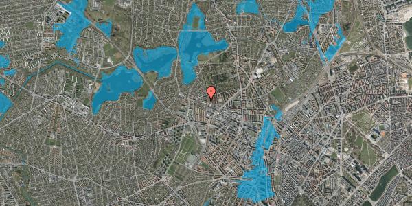 Oversvømmelsesrisiko fra vandløb på Birkedommervej 69, 1. th, 2400 København NV