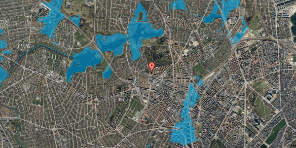 Oversvømmelsesrisiko fra vandløb på Birkedommervej 69, 2. tv, 2400 København NV
