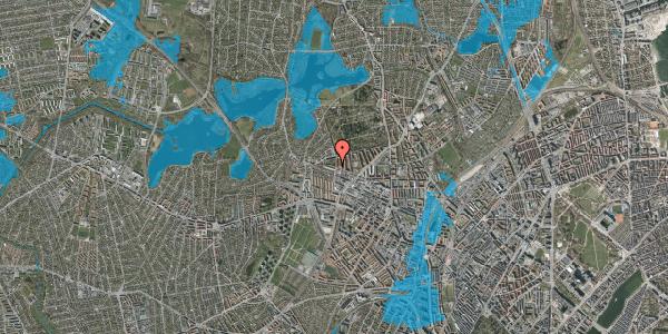 Oversvømmelsesrisiko fra vandløb på Birkedommervej 70, 1. tv, 2400 København NV