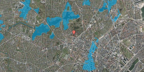 Oversvømmelsesrisiko fra vandløb på Birkedommervej 70, 3. tv, 2400 København NV