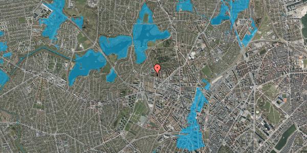 Oversvømmelsesrisiko fra vandløb på Birkedommervej 72, 2. tv, 2400 København NV