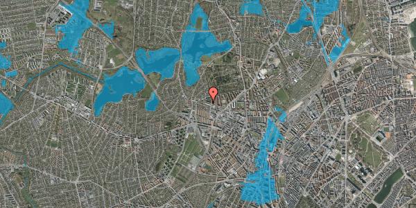 Oversvømmelsesrisiko fra vandløb på Birkedommervej 73, 1. th, 2400 København NV
