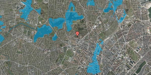 Oversvømmelsesrisiko fra vandløb på Birkedommervej 74, st. th, 2400 København NV