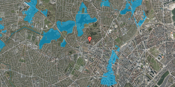 Oversvømmelsesrisiko fra vandløb på Birkedommervej 74, 1. th, 2400 København NV