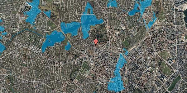 Oversvømmelsesrisiko fra vandløb på Birkedommervej 74, 2. th, 2400 København NV