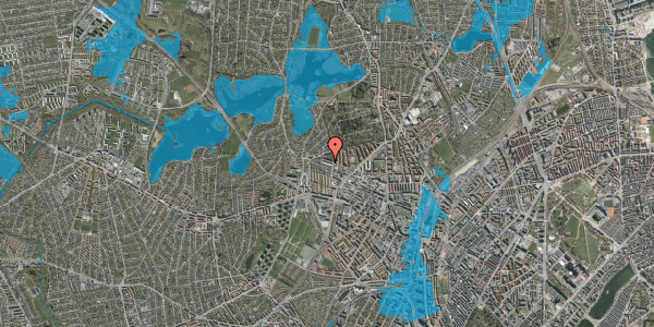 Oversvømmelsesrisiko fra vandløb på Birkedommervej 75, 2. tv, 2400 København NV