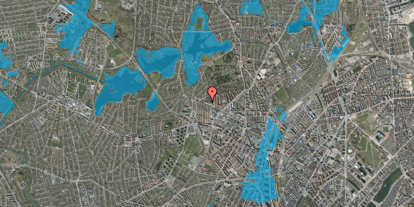 Oversvømmelsesrisiko fra vandløb på Birkedommervej 77, st. th, 2400 København NV