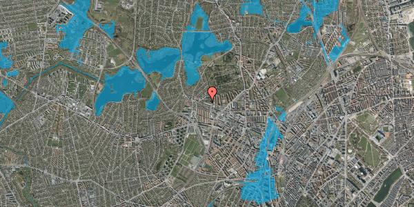 Oversvømmelsesrisiko fra vandløb på Birkedommervej 77, st. tv, 2400 København NV