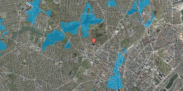 Oversvømmelsesrisiko fra vandløb på Birkedommervej 79, st. tv, 2400 København NV