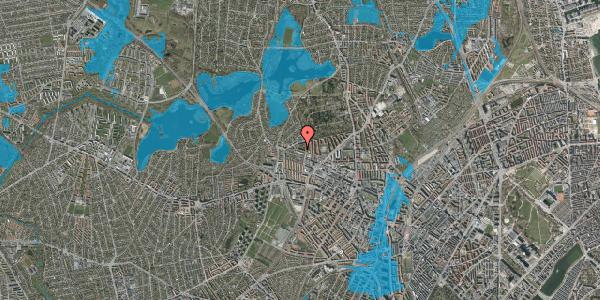 Oversvømmelsesrisiko fra vandløb på Birkedommervej 80, 1. th, 2400 København NV