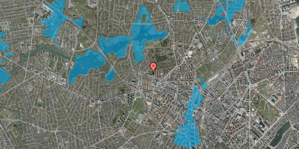 Oversvømmelsesrisiko fra vandløb på Birkedommervej 82, 1. th, 2400 København NV