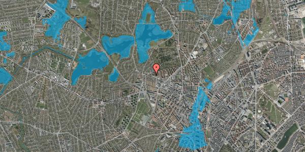 Oversvømmelsesrisiko fra vandløb på Birkedommervej 83, st. th, 2400 København NV