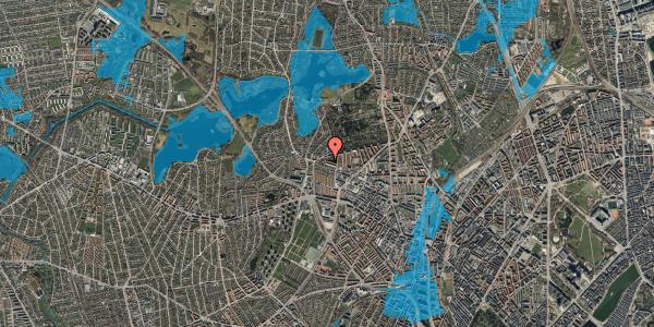 Oversvømmelsesrisiko fra vandløb på Birkedommervej 83, 1. tv, 2400 København NV