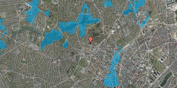 Oversvømmelsesrisiko fra vandløb på Birkedommervej 84, st. th, 2400 København NV