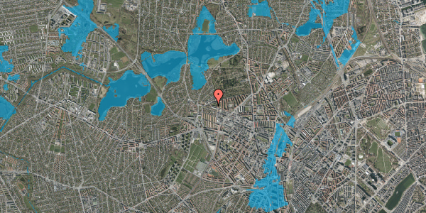 Oversvømmelsesrisiko fra vandløb på Birkedommervej 84, 4. th, 2400 København NV