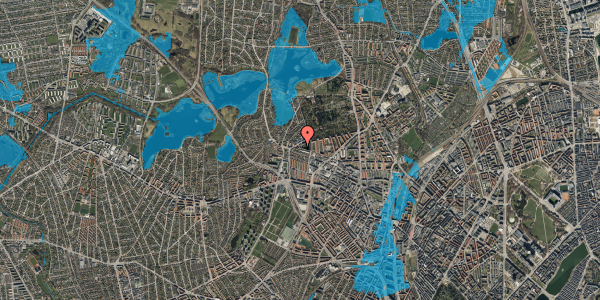 Oversvømmelsesrisiko fra vandløb på Birkedommervej 85, 1. th, 2400 København NV