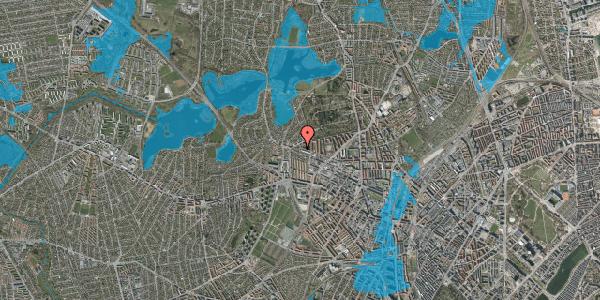 Oversvømmelsesrisiko fra vandløb på Birkedommervej 85, 1. tv, 2400 København NV