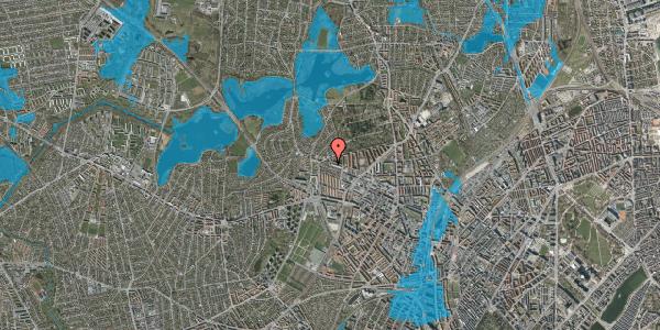 Oversvømmelsesrisiko fra vandløb på Birkedommervej 87, 1. tv, 2400 København NV