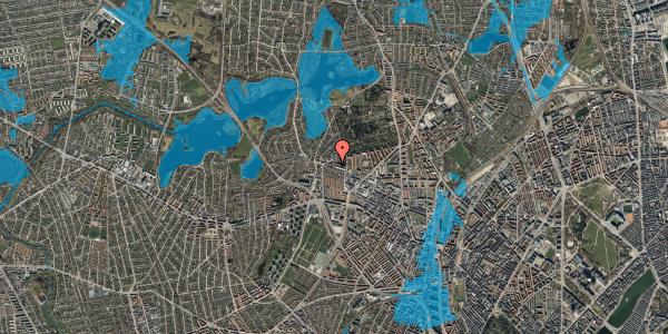 Oversvømmelsesrisiko fra vandløb på Birkedommervej 87, 2. tv, 2400 København NV