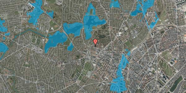Oversvømmelsesrisiko fra vandløb på Birkedommervej 89, st. th, 2400 København NV