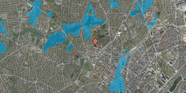 Oversvømmelsesrisiko fra vandløb på Birkedommervej 90, st. mf, 2400 København NV