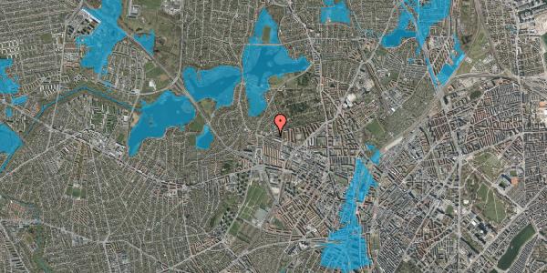 Oversvømmelsesrisiko fra vandløb på Birkedommervej 90, 1. tv, 2400 København NV