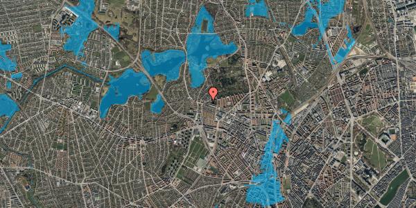 Oversvømmelsesrisiko fra vandløb på Birkedommervej 91, st. th, 2400 København NV