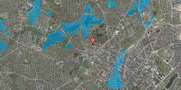 Oversvømmelsesrisiko fra vandløb på Birkedommervej 91, st. tv, 2400 København NV