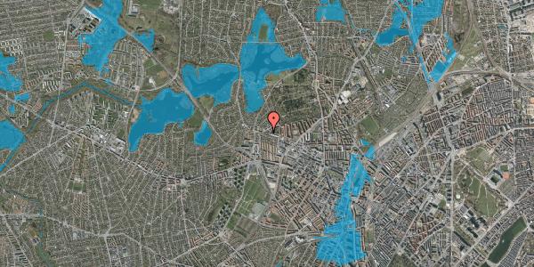Oversvømmelsesrisiko fra vandløb på Birkedommervej 93, 2. th, 2400 København NV