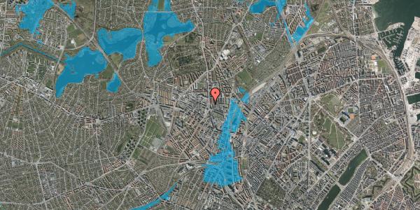 Oversvømmelsesrisiko fra vandløb på Bisiddervej 2, 3. th, 2400 København NV