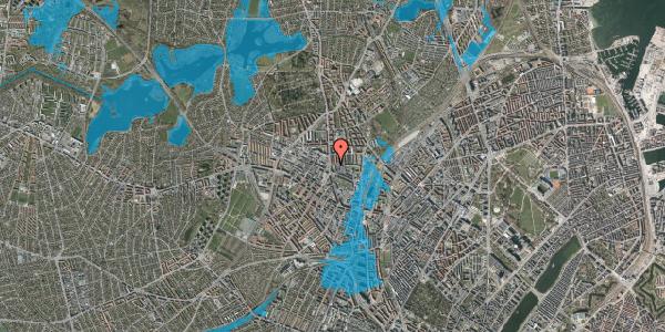 Oversvømmelsesrisiko fra vandløb på Bisiddervej 4, 3. th, 2400 København NV