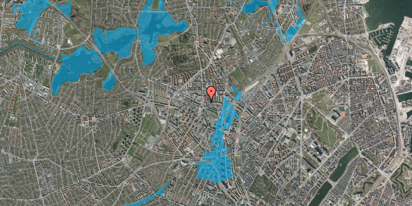 Oversvømmelsesrisiko fra vandløb på Bisiddervej 10, 1. th, 2400 København NV