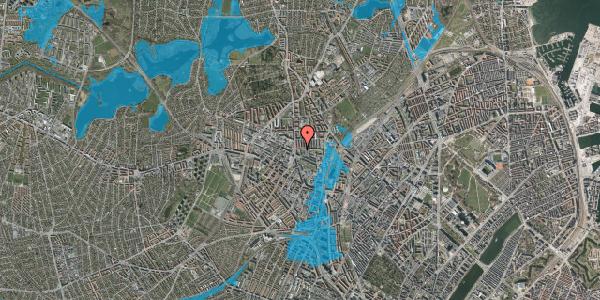 Oversvømmelsesrisiko fra vandløb på Bisiddervej 10, 1. tv, 2400 København NV
