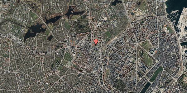 Oversvømmelsesrisiko fra vandløb på Bisiddervej 10, 2. tv, 2400 København NV