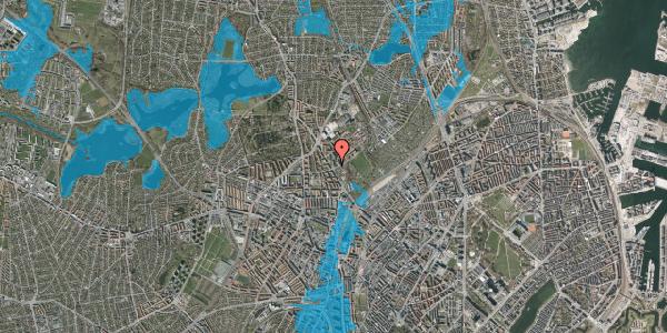 Oversvømmelsesrisiko fra vandløb på Bispebjerg Bakke 1, 2. 205, 2400 København NV