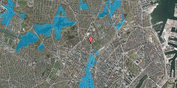 Oversvømmelsesrisiko fra vandløb på Bispebjerg Bakke 3, 4. 406, 2400 København NV